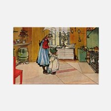 Carl Larsson - The Kitchen Rectangle Magnet