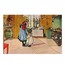 Carl Larsson - The Kitche Postcards (Package of 8)