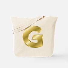 Gold Letter G Tote Bag