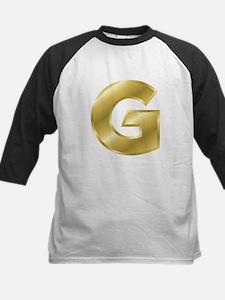 Gold Letter G Baseball Jersey