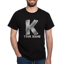 Custom Silver Letter K T-Shirt