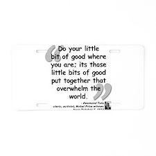 Cute Peace activist Aluminum License Plate