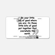 Cute Words Aluminum License Plate