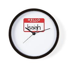Hello Isaiah Wall Clock