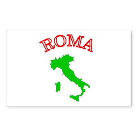 Roma, Italia Rectangle Sticker