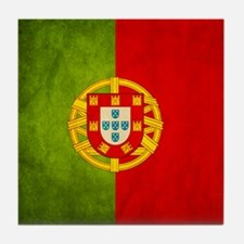 3D Portugal flag Tile Coaster