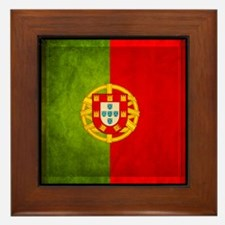 3D Portugal flag Framed Tile
