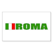 Roma, Italia Rectangle Decal