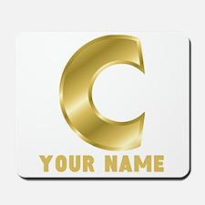 Custom Gold Letter C Mousepad