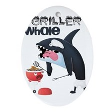 Griller whale Oval Ornament