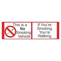 Smokeless vehicle Bumper Bumper Sticker