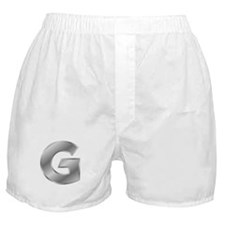 Silver Letter G Boxer Shorts