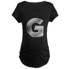 Silver Letter G Maternity T-Shirt