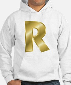 Gold Letter R Hoodie