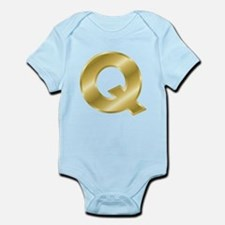 Gold Letter Q Body Suit