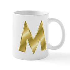 Gold Letter M Mugs