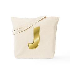 Gold Letter J Tote Bag