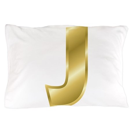 gold letter j pillow case by decorativeletters With gold letter pillow