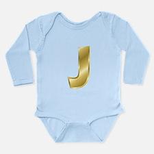 Gold Letter J Body Suit