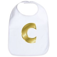 Gold Letter C Bib
