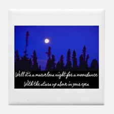 MOONDANCE Tile Coaster