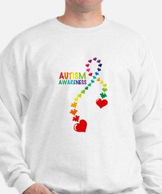 Autism Puzzle Ribbon Sweater