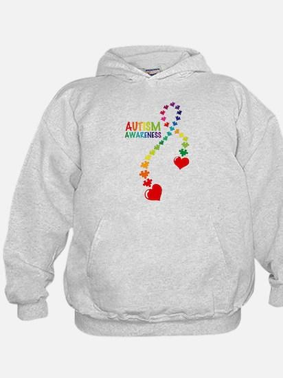 Autism Puzzle Ribbon Hoody