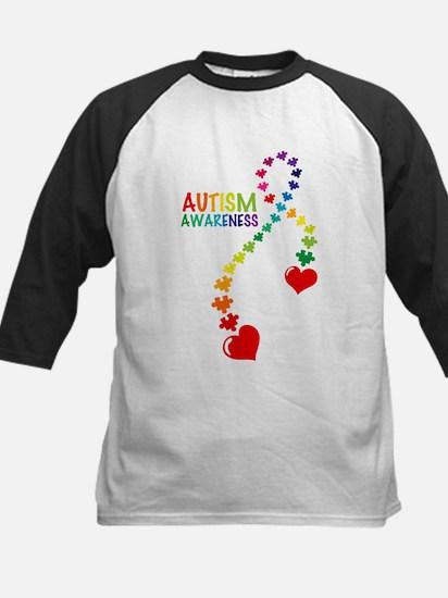 Autism Puzzle Ribbon Kids Baseball Jersey