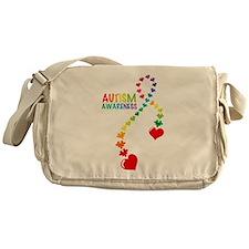 Autism Puzzle Ribbon Messenger Bag
