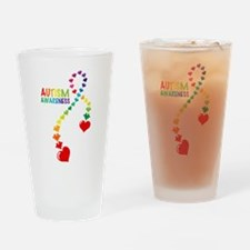 Autism Puzzle Ribbon Drinking Glass