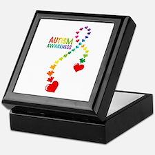Autism Puzzle Ribbon Keepsake Box