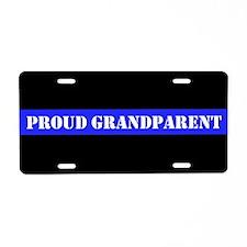 Grandparent Of Police Aluminum License Plate