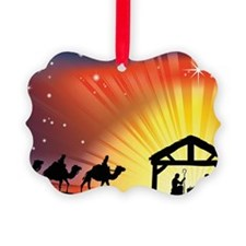 Christian Nativity Scene Ornament