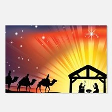 Christian Nativity Scene Postcards (Package of 8)