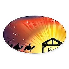 Christian Nativity Scene Decal