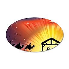 Christian Nativity Scene Wall Decal