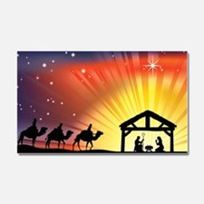 Christian Nativity Scene Car Magnet 20 x 12