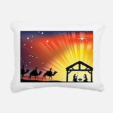Christian Nativity Scene Rectangular Canvas Pillow