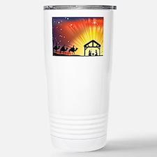 Christian Nativity Scen Stainless Steel Travel Mug