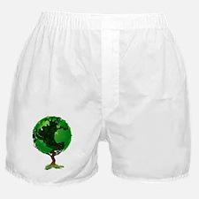Globe world tree Boxer Shorts