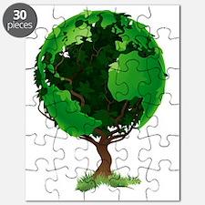 Globe world tree Puzzle