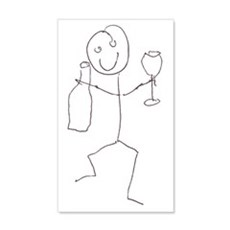 happy wine guy Wall Decal