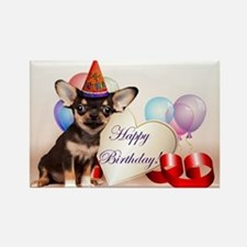 Happy Birthday Chihuahua dog Magnets