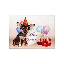 Happy Birthday Chihuahua dog 5'x7'Area Rug