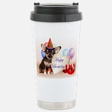 Happy Birthday Chihuahua dog Travel Mug