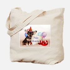 Happy Birthday Chihuahua dog Tote Bag