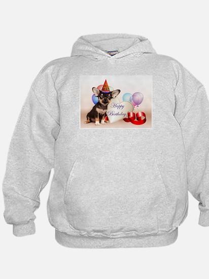 Happy Birthday Chihuahua dog Hoodie