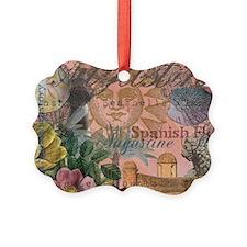St. Augustine Florida Vintage Collage Ornament