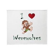 I love werewolves Throw Blanket