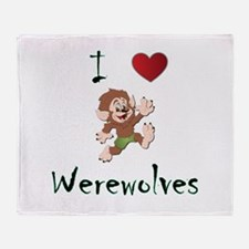 I love werewolves Throw Blanket